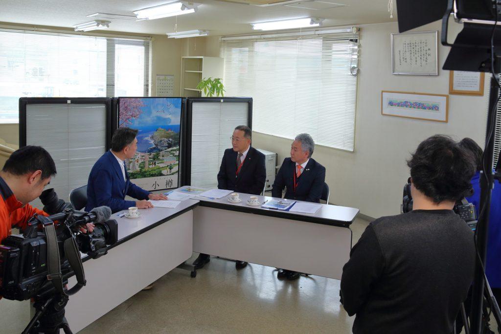 TVhテレビ北海道「ぶっちゃけ!終活TV」の収録風景