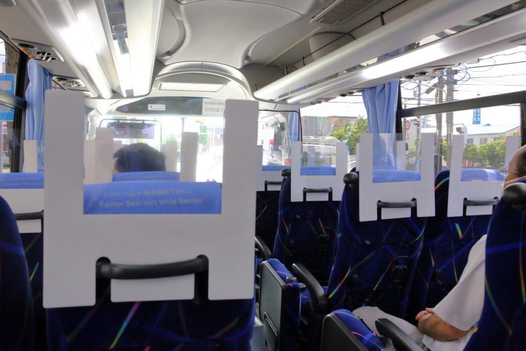 バス座席用「飛沫防止パーテーション」